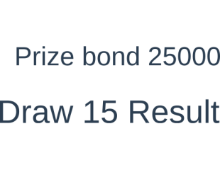 Prize bond 25000 Draw 17 Monday 2nd May 2016 Result